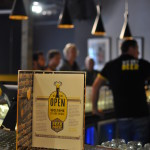 Beerhouse menu on the bar counter