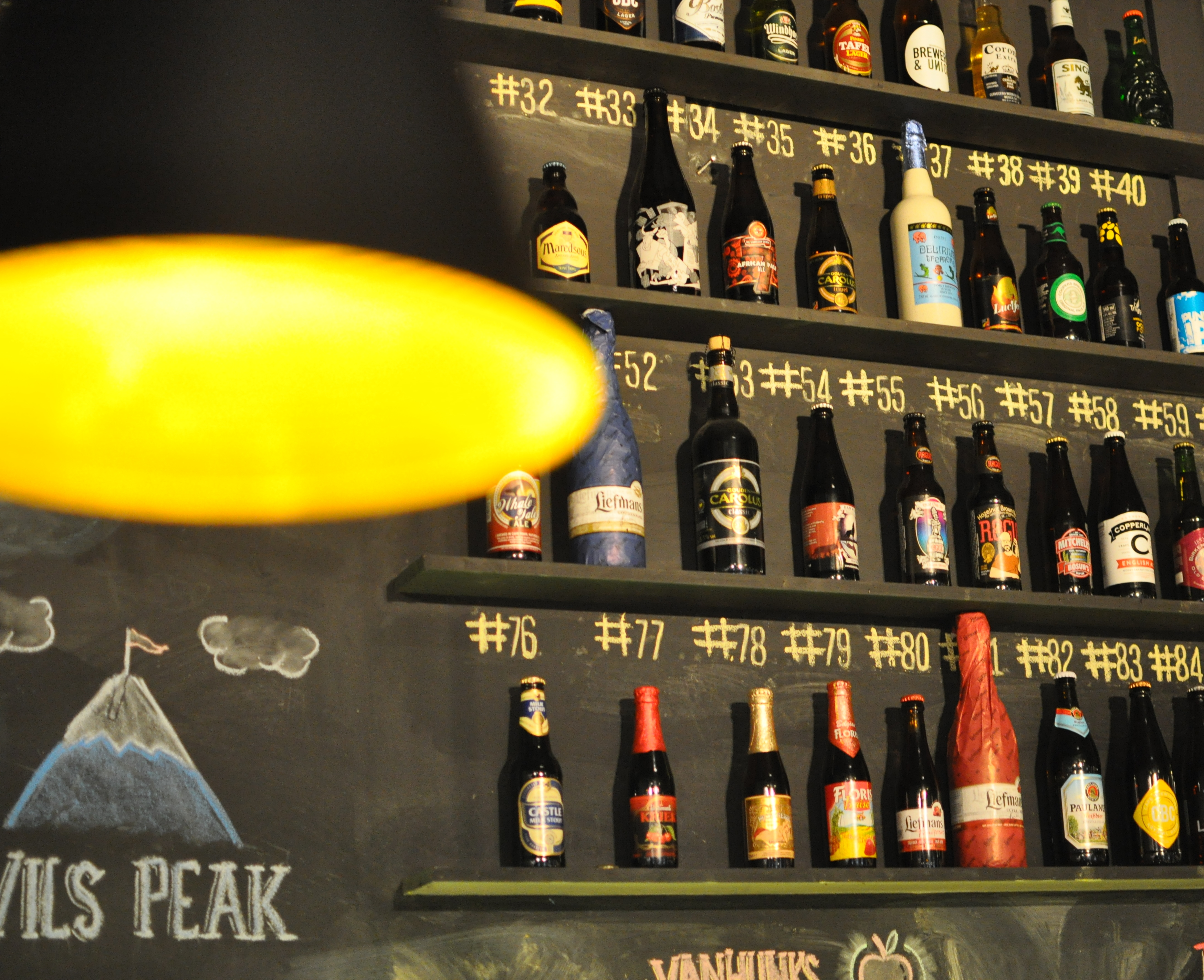 99 Bottles Of Beer On The Chalk Wall Beerhouse