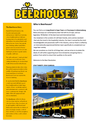 BEERHOUSE concept note